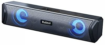 Read more about the article Bobtot Computer Speakers Sound Bar, AUX Wired & Bluetooth Wireless, RGB Computer Speakers for Desktop, PC, Laptop, Tablets