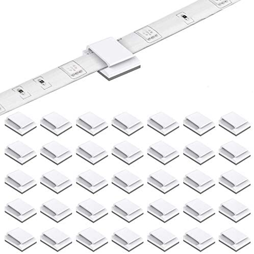 Read more about the article 200 Pack LED Strip Clips – iCreating Self Adhesive LED Light Strip Mounting Bracket Clips Holder Cable Clamp Organizer for 10mm Wide IP65 Waterproof 5050 3528 2835 5630 LED Strip Light