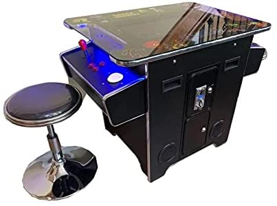 Read more about the article Abvideo Exclusive Huge 22 inch Screen with Adjustable Stools Video Game Machine Cocktail Arcade Machine 412 Classic Games Commercial Grade! with Trackball Led Strip BLKTC0233