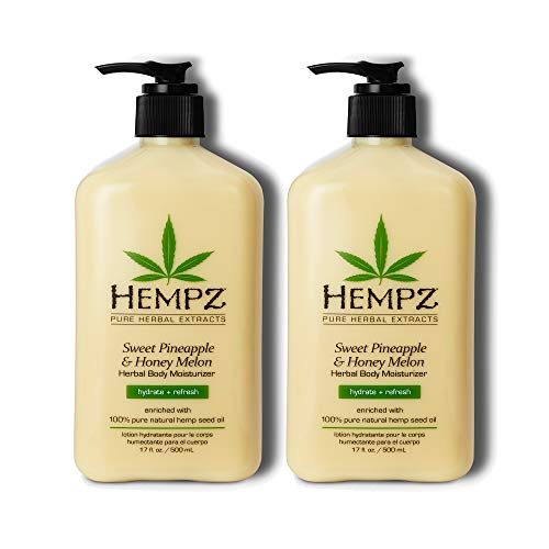 Read more about the article Hempz Sweet Pineapple & Honey Melon Moisturizing Skin Lotion, Natural Hemp Seed Herbal Body Moisturizer with Jojoba, Natural Extracts, Vitamin A and E, 17 oz, 2 Pack Bundle
