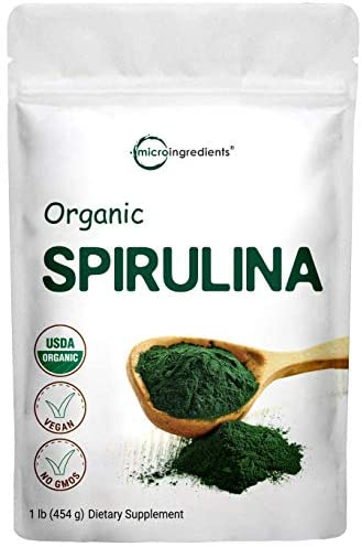 Read more about the article Micro Ingredients Organic Spirulina Powder, 1 Pound (16 Ounce), Rich in Chlorophyll, Minerals, Fatty Acids, Fiber, Protein and Support Immune System, No Irradiated, No Contaminated, No GMOs