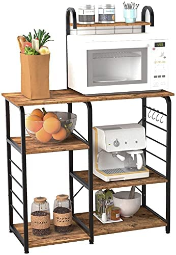 Read more about the article soges Multi-Functional Kitchen Baker's Rack Utility Microwave Oven Stand Storage Cart Workstation Shelf, Rustic Brown 172-FG