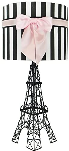 Read more about the article 24.5″ Eiffel Tower Table Lamp with Bowknot Shade (Pink)