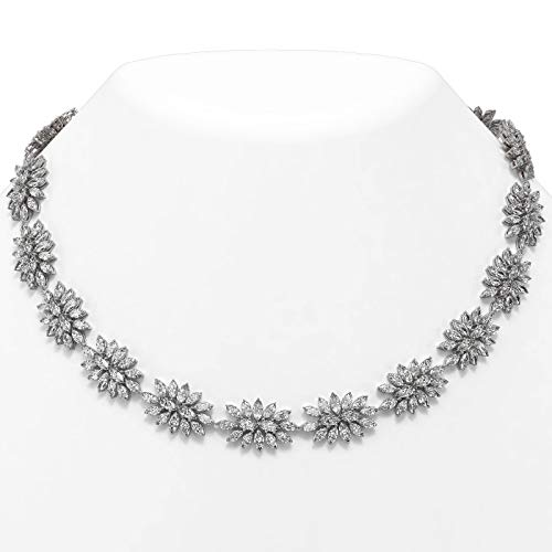 Read more about the article 47 ctw Marquise Diamond Designer Necklace 18K