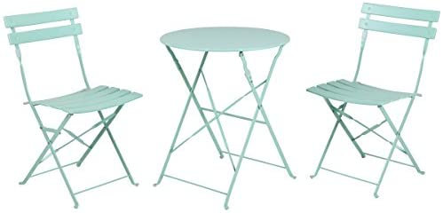 Read more about the article Grand patio Premium Steel Patio Bistro Set, Folding Outdoor Patio Furniture Sets, 3 Piece Patio Set of Foldable Patio Table and Chairs, Mint Green