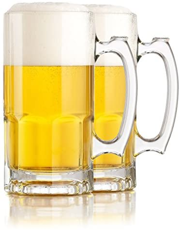Read more about the article Serami Hikari Design 1L (34oz) German Style Extra Large Super Glass Beer Steins, Set of 2