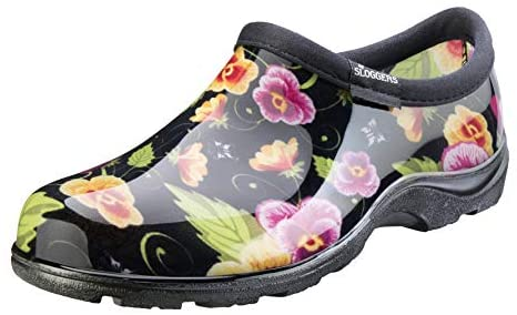 Read more about the article Sloggers Women's Waterproof Rain and Garden Shoe with Comfort Insole, Pansy Black, Size 9, Style 5114BP09