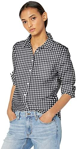 Read more about the article Amazon Essentials Women's Classic-Fit Long Sleeve Button Down Poplin Shirt