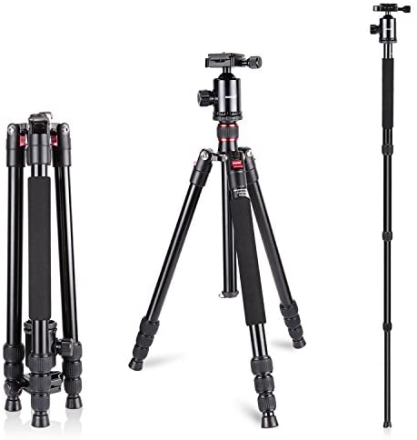 Read more about the article Neewer Aluminum Alloy 64 inches/162 Centimeters Camera Travel Tripod Monopod with 360 Degree Ball Head,1/4 inch Quick Shoe Plate and Bag for DSLR Camera Video Camcorder up to 26.5 pounds/12 kilograms
