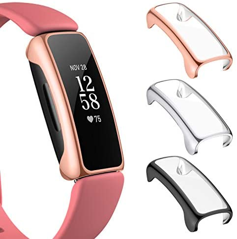 Read more about the article NANW 3-Pack Screen Protector Compatible with Fitbit Inspire 2 (Not for Inspire/Inspire HR), All-Around Protective PC Case Plated Anti-Scratch Cover Rugged Bumper Shell for Inspire 2 Smartwatch
