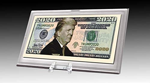 Read more about the article AAC / PCSCP Donald Trump 2020 Dollar Bill Desktop Collectible – Comes in Currency Stand – Beautiful Office Desk Top Accessory Gift – Toy, Prank, Gag Gift