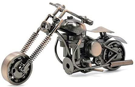 Read more about the article Pop Time Bronze Retro Classic Handmade Iron Motorcycle Handcrafted Iron Metal Motorcycle Collectible Art Sculpture Motorbike for Home Decor (15.5x6x9cm)