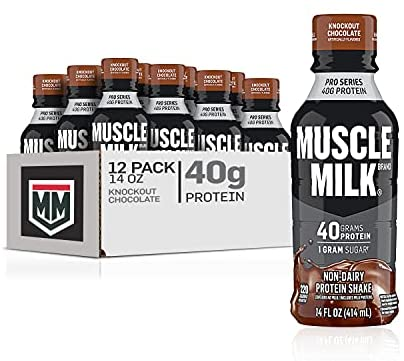 Read more about the article Muscle Milk Pro Series Protein Shake, Knockout Chocolate, 40g Protein, 14 Fl Oz, 12 Pack
