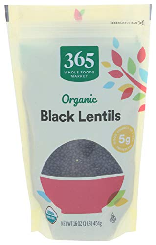 Read more about the article 365 by Whole Foods Market, Organic Dry Beans, Black Lentils, 16 Ounce