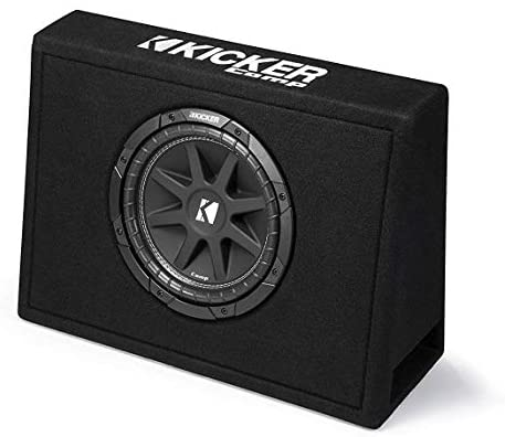 Read more about the article Kicker Single 10-Inch Comp 4 Ohm 150W Loaded Subwoofer Enclosure Box | 43TC104