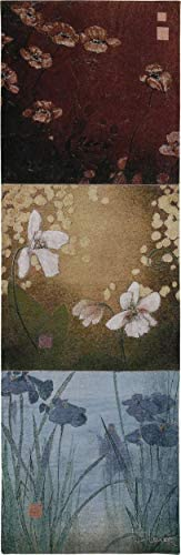 Read more about the article Aura by Don Li-Leger | Woven Tapestry Wall Art Hanging | Asian Fusion Contemporary Floral Panels | 100% Cotton USA Size 53×18