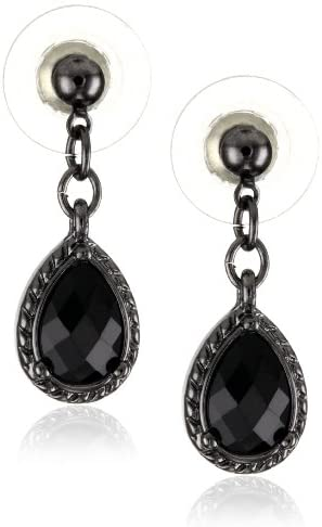 Read more about the article 1928 Jewelry Black Victorian Inspired Petite Teardrop Earrings