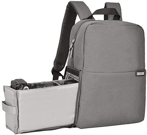 Read more about the article CADeN Camera Bag Backpack with Laptop Compartment 14″ Waterproof, Camera Case for DSLR Mirrorless SLR Cameras, Compatible for Sony Canon Nikon Camera and Lens Tripod Accessories Grey