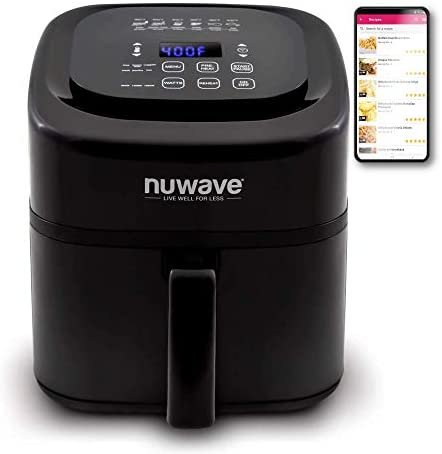 Read more about the article NuWave Brio 6-Quart Air Fryer with App Recipes (Black) Includes Basket Divider, One-Touch Digital Controls, 6 Easy Presets, Wattage Control, and Advanced Functions like SEAR, PREHEAT, DELAY, WARM and More (NEW UPDATED MODEL)