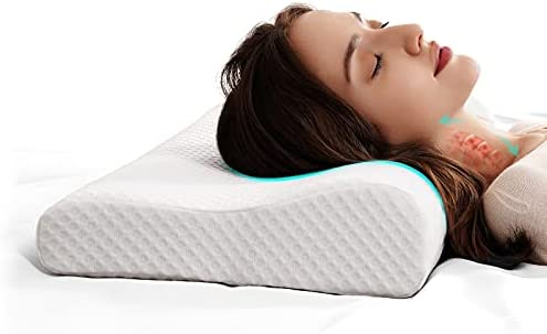 Read more about the article Cervical Memory Foam Pillow-2 Pillowcases,Contour Pillows for Neck and Shoulder Pain,Ergonomic Orthopedic Sleeping Neck Contoured Support Pillow for Back Side and Stomach Sleeper