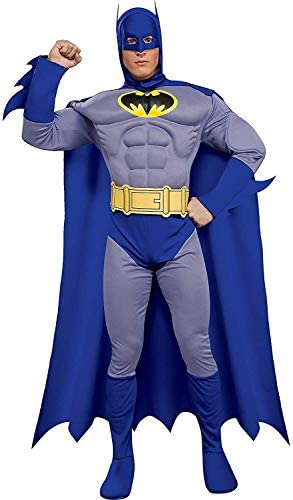 Read more about the article Rubie's Costume Dc Heroes and Villains Collection Deluxe Muscle Chest Batman Costume