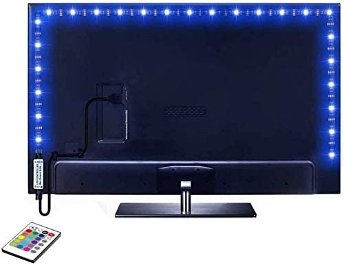Read more about the article Led Strip Lights 6.56ft for 40-60in TV, 16 Color Changing 5050 LEDs Bias Lighting for HDTV,USB LED TV Backlight Kit with Remote