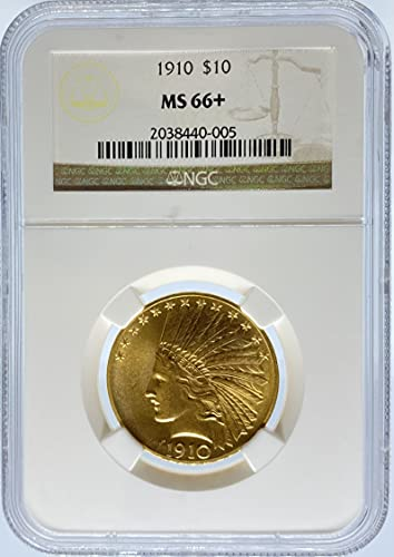 Read more about the article 1910 Indian G$10 MS66+ NGC