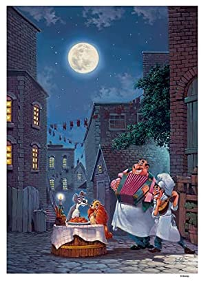 Read more about the article Disney Fine Art – Beautiful Night by Rodel Gonzalez – Lady and the Tramp Lithograph on Paper Wall Art