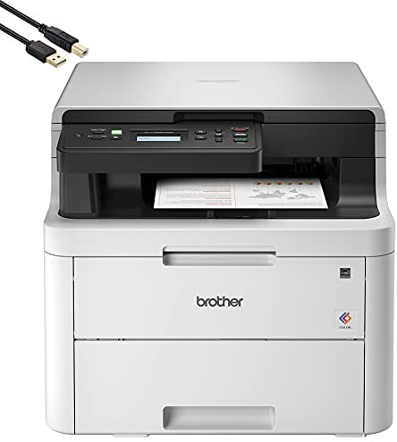 Read more about the article Brother HL-L3290CDW Compact Digital LED Color All-in-One Printer for Home Office with Convenient Flatbed Copy & Scan, Plus Wireless Duplex Printing, 25 ppm, 600×2400 dpi – BROAGE 6 Feet Printer Cable