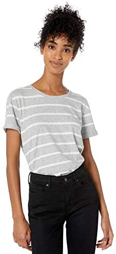 Read more about the article Amazon Brand – Goodthreads Women's Washed Jersey Cotton Roll-Sleeve Open Crewneck T-Shirt
