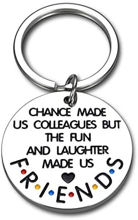 Read more about the article Coworker Keychain Colleague Gifts for Birthday Christmas Friends TV Show Appreciation Gift for Women Men Boss Friends Thank You Leaving Going Away 2021 Retirement Gift for Friends Female Male