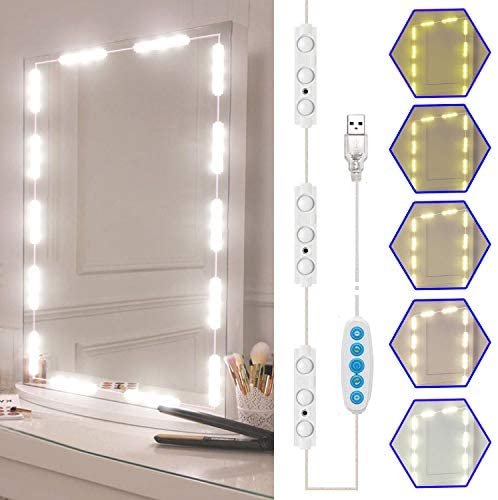 Read more about the article Led Vanity Mirror Lights Kit, SELFILA Hollywood Style Vanity Make Up Light, 11ft with Dimmable Color and Brightness Lighting Fixture Strip for Table & Bathroom Mirror, Mirror Not Included