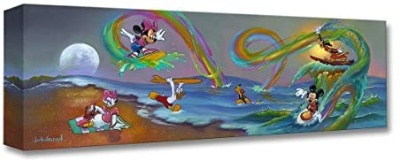 Read more about the article Disney Fine Art Mickey's Crazy Wave 8″ x 24″ Treasures on Canvas Mickey Mouse Sensational Six Gallery Wrapped Canvas by Jim Warren