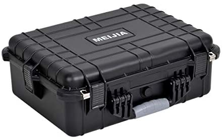 Read more about the article MEIJIA Portable Waterproof Hard Camera Case,Memory Foam Inserted, Elegant Black,Fit for Camera, Equipments, Lens,Drones (19.78″X15.77″X7.41″)