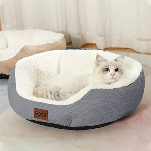 Read more about the article EXQ Home Soft Cat Beds for Indoor Cats,Fluffy Calming Cat Bed with Slip-Resistant Bottom,Plush Round Dog Beds for Small Dogs,20 inch Kitten Bed Machine Washable Pet Beds for Small Dogs