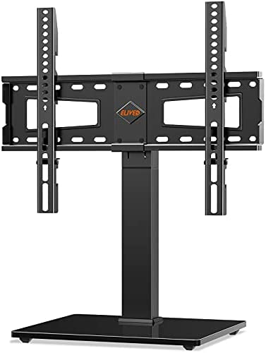 Read more about the article Universal Swivel TV Stand Base, Table Top TV Stand for 37-70 inch LCD LED OLED Flat Screen TVs, Height Adjustable TV Mount Stand with Tempered Glass Base, VESA 600x400mm, Holds up to 88 lbs. ELIVED