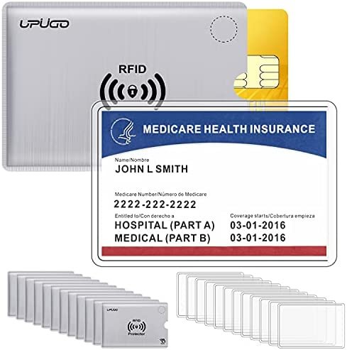 Read more about the article 12 Set Premium Medicare Card Protector Sleeves and RFID Blocking Card Sleeves for Insurance, Social Medicare, Security, Metro,License, Credit Cards