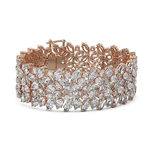 Read more about the article 78 ctw Pear and Marquise Diamond Bracelet 18K