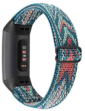 Read more about the article YONWORTH Adjustable Elastic Nylon Watch Band Compatible with Fitbit Charge 4/Charge 3/SE Bands, Stretch Breathable Nylon Sport Solo Loop Strap Soft Replacement Wristband for Women Men