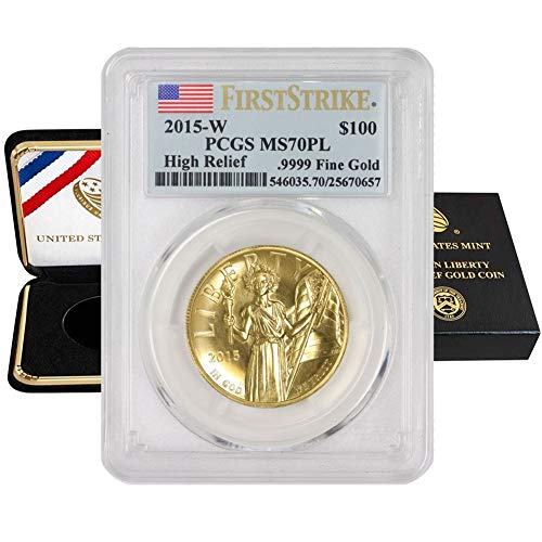 Read more about the article 2015 W 1 oz American Gold High Relief Liberty MS-70 Proof Like First Strike with Certificate of Authenticity by CoinFolio $100 MS70PL PCGS