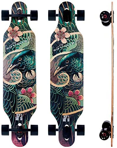 Read more about the article 40-Inch Downhill Longboard Skateboard Through Deck 7 Ply Canadian Maple, Complete Cruiser, Free-Style
