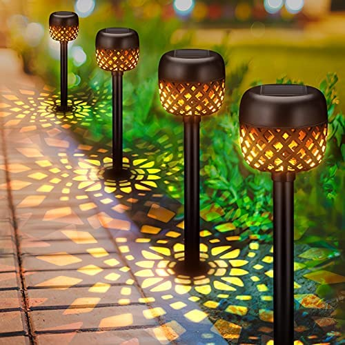 Read more about the article Solar Lights Outdoor Decorative, BONLION 6 Pack Solar Pathway Lights Outdoor, Waterproof LED Garden Lights Solar Powered, Landscape Lights for Pathway, Walkway, Patio, Lawn, Yard