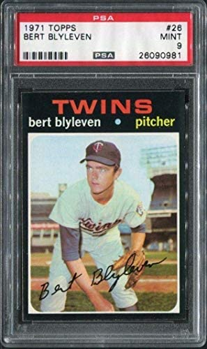 Read more about the article 1971 Topps 26 Bert Blyleven Rc Hof Psa 9 26090981 – Baseball Slabbed Vintage Cards