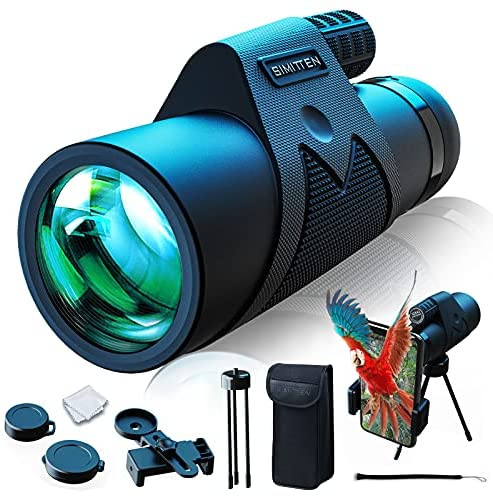 Read more about the article Simitten 12X42 High Power Monocular Telescope, Monocular with Smart Phone Adapter,Binocular Scope for Adult,for Bird Watching,Wildlife,Concert,Sporting Game