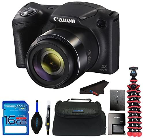 Read more about the article Canon Digital Camera PowerShot SX420 is w/ 42x Optical Zoom + Pixi Accessory Bundle