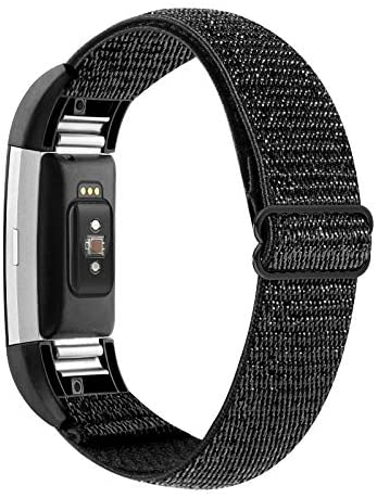 Read more about the article YONWORTH Adjustable Elastic Watch Band Compatible with Fitbit Charge 2 Bands, Stretchy Nylon Loop Strap Soft Wrist Bands Bracelet Sport Replacement for Women Men (Glitter Black)