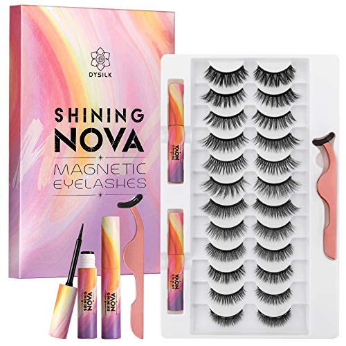Read more about the article DYSILK 12 Pairs 6D Upgraded Magnetic Eyeliner and Eyelashes Kit Magnetic Eyelashes Natural Look False Lashes 3D Reusable Lashes No Glue-SHINING NOVA