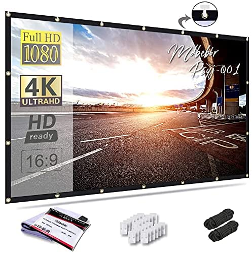 Read more about the article Mdbebbron 150 inch Projection Screen 16:9 HD Foldable Anti-Crease Portable Projector Movies Screen for Office Home Theater Outdoor Indoor Support Double Sided Projection (Renewed)