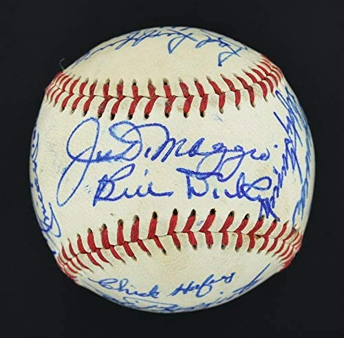 Read more about the article Yankees/Cardinals Signed Ball Mickey Mantle Roger Maris Satchel Paige JSA – Autographed Baseballs