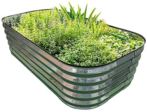 Read more about the article PINTIA1 Steel Raised Garden Beds for Vegetables Flowers, Large Outdoor Planter Herbs Garden Bed Galvanised Steel Size (6X3X1.45 FT, Galvanized)